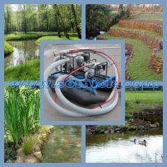 Мобильные земснаряды Piranha для очистки водоемов,