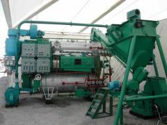 Equipment for processing of wastes meat, fish, hen