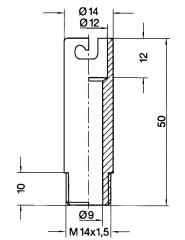 Cylindrical screw clip