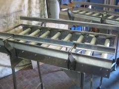 Live rolls for movement of packagings