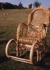 Rocking chair wattled of a rod