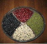 Haricot, haricot seeds, long white beans, round