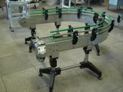 Conveyors, conveyors chain for piece freights