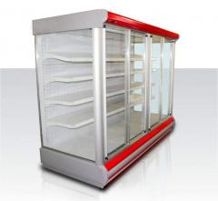 Case refrigerating a show-window with sliding