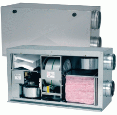 Forced-air and exhaust units with recovery of hea