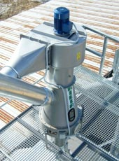 Separator for cleaning of light impurity, grain