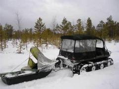 All-terrain vehicles of the Slang 8х8 for hunting