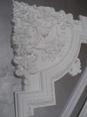 Decorative stucco molding, eaves, moldings,