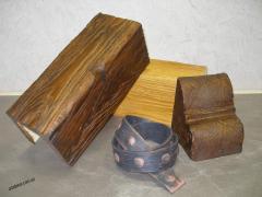 Decorative beams from polyurethane, false beams,