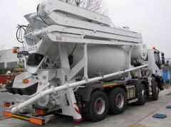 Auto concrete mixer mixer