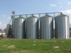 Плоскодонные силосы для зерна