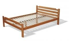 Bed wooden single and double massif alder