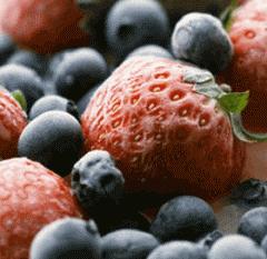 The berries frozen