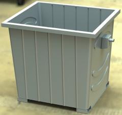 Контейнер штампованый  для бытовых отходов 1,1