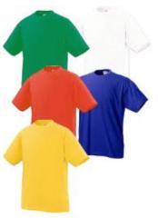 Изделия трикотажные хлопчатобумажные для детей.  Футболки детские.