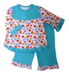 Изделия трикотажные хлопчатобумажные для детей.  Пижамы для девочек, опт от 1000грн, Мелитополь..