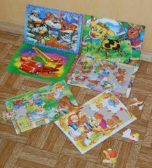 Puzzles sheet (products cardboard)