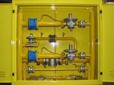 Cupboard gas control points (to 30 000 m3/h)