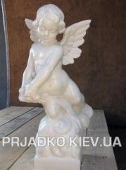 Statue an angel from white concrete 2