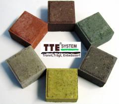 Stone blocks for lawn/parking lattices of TTE