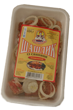Pork shish kebab