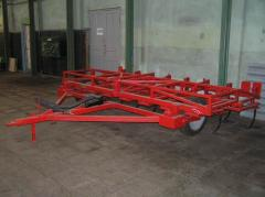 Cultivator of hook-on continuous processing of the