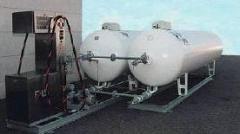 Gas distributing columns. Gas refueling stations
