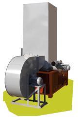 Теплогенератор  Модель ТГ-200 стандартный мощностью 200 кВт , с транспортным вентилятором ВЦ 4-75 8, дымососом и циклоном для очистки дымовых газов.