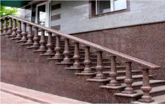 Protections of balconies, ladders from granite