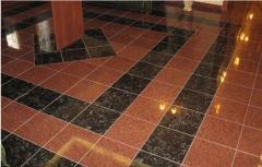 Floors from granite