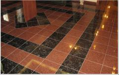Tile decorative of granite