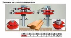Mill for eurolining (lining, eurolining). A set of