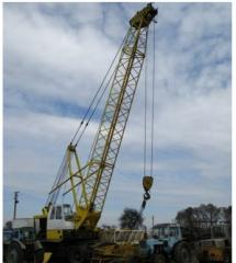 Cranes. The crane on Johnson-SW 851M pneumocourse