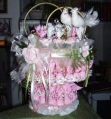 Wedding cake from candies - bonbonnieres