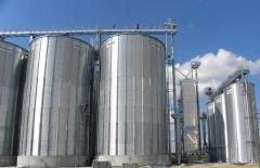 Зернохранилища из металлических вентилируемых силосов