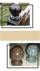 Spheres granite, any flowers, any sizes. Excellent