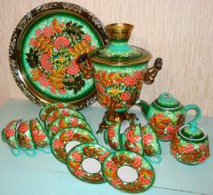 """Set tea of 16 objects, No. 12 """"Patriotic"""