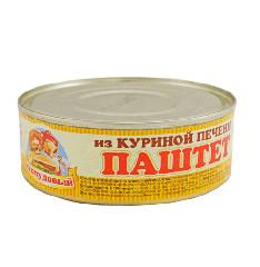 Паштет Из куриной печени, Сто пудов, 240 г, ж/б