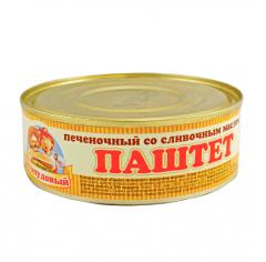 Паштет Печеночный со слив. маслом, Сто пудов, 240 г, ж/б