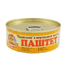 Паштет Пражский со слив. маслом, Сто пудов, 100 г, ж/б, ключ