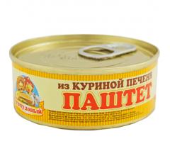Паштет Из куриной печени, Сто пудов, 100 г, ж/б, ключ