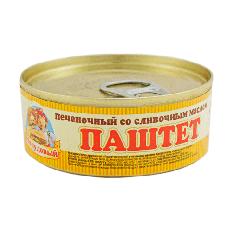 Паштет Печеночный со слив. маслом, Сто пудов, 100 г, ж/б, ключ