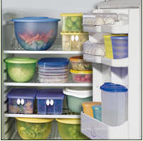 Plastic ware for storage in the refrigerator