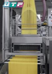 Automatic line for the production of spaghetti and