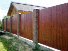 Materials made of metal for wall facing