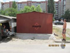 Garage from ferrous sheet metal 4х6, 1,2mm