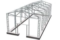 Frameworks of hangars, lighting suppor