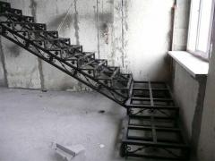 Metal frames of ladders