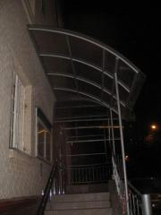 Canopy and handrail from a stainless steel