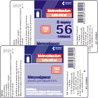 Solution for infusions of 0,5% Metronidazole